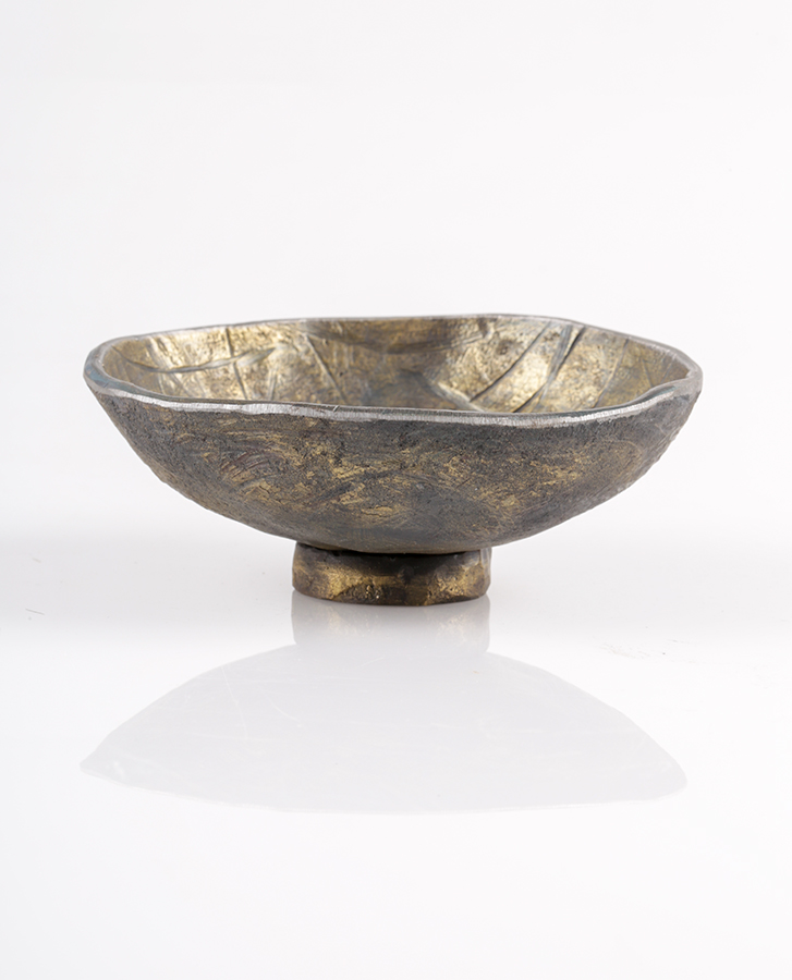 hand made metal bowl with base