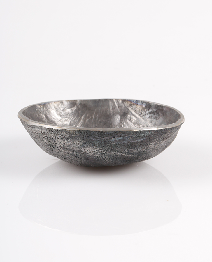 hand made metal bowl with pattern