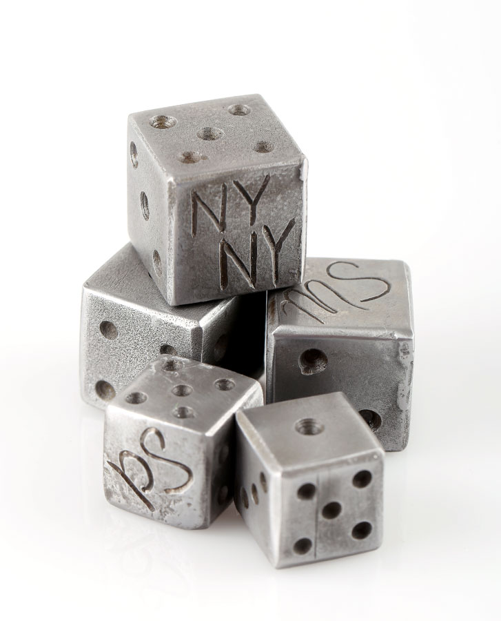 gifts made from steel for him dice handmade