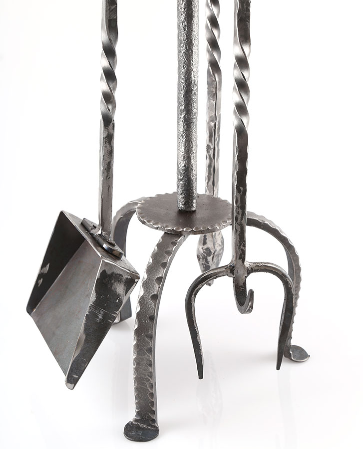 australian made wrought iron fireside toolset