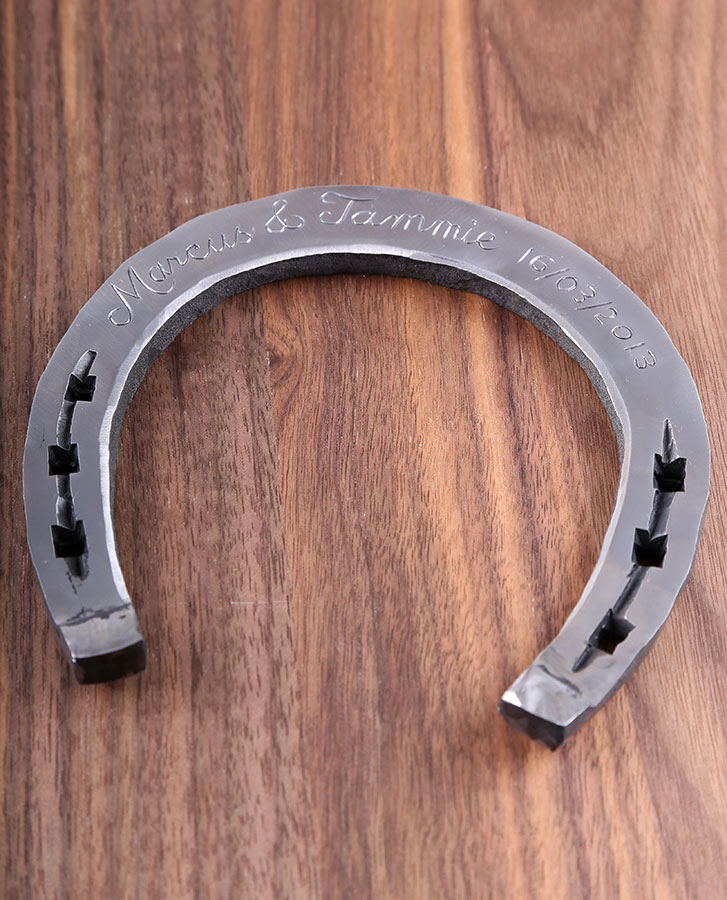 bridal wedding anniversary gift handmade iron horseshoe