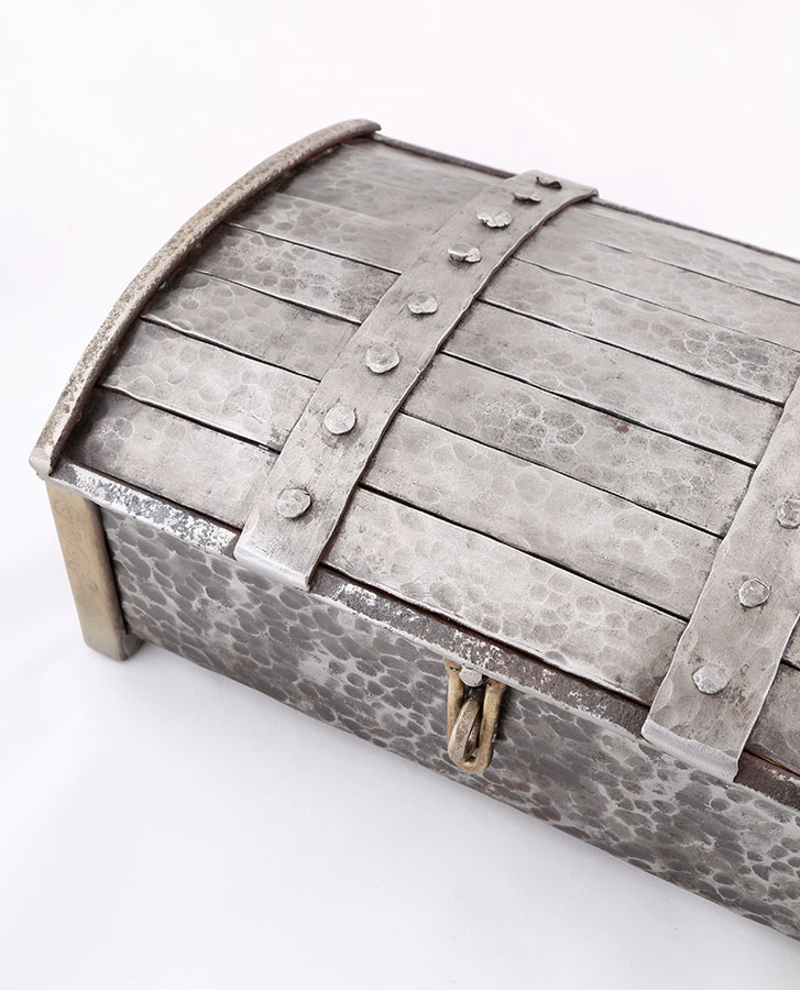 Casket style jewellery box - handmade iron steel