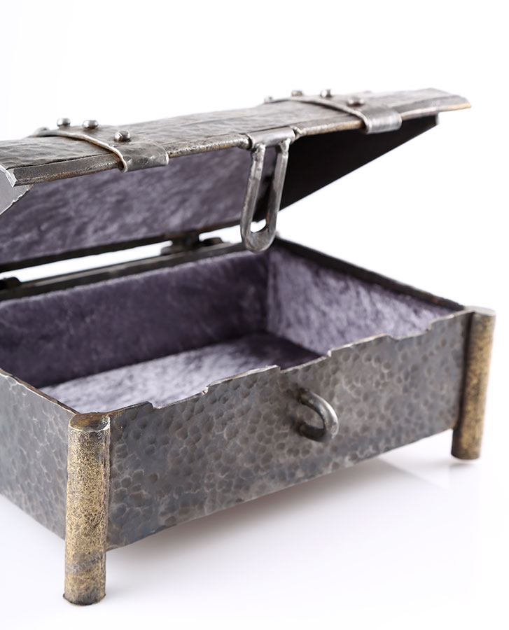 Wrought iron Jewellery Box handmade by craftsman