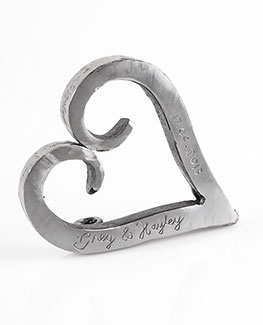 The perfect gift for your 6th (iron) or 11th (steel) anniversary, Valentine's Day, hen's / bride-to-be gift or just for a little decoration in your home! Freestanding Loveheart, handmade, rustic, minimalist design.