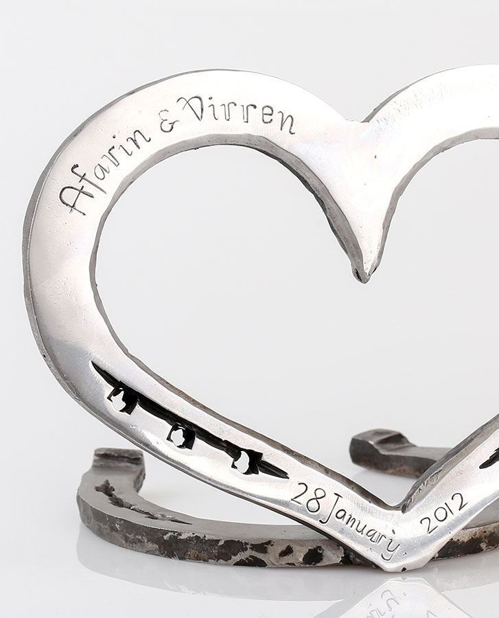 anniversary gift, valentine, wedding gift engraved horseshoe loveheart