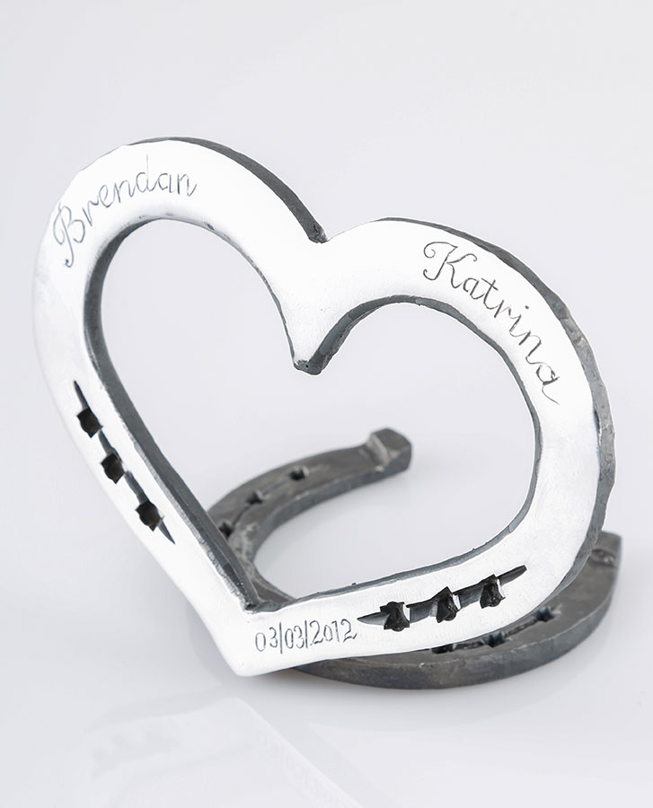 traditional blacksmith made in australia steel horseshoe loveheart