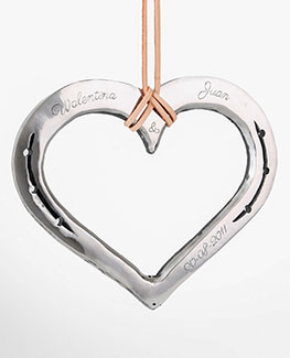 Loveheart horseshoe handmade iron