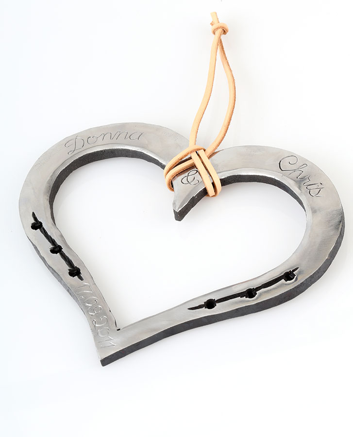 valentine or 6th 11th anniversary iron steel handmade loveheart