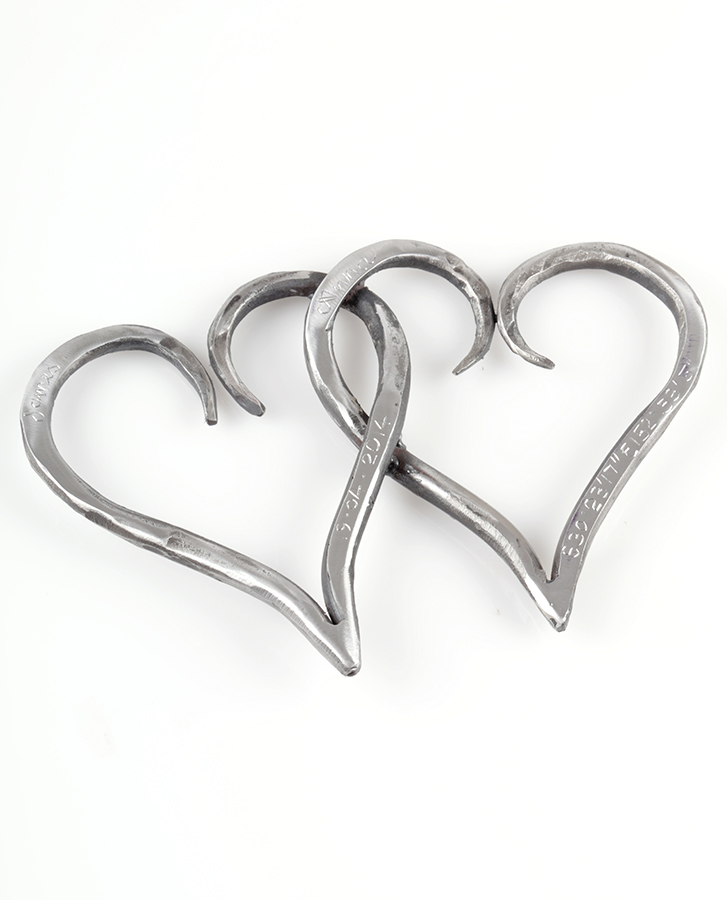 Perfect anniversary gift love heart handmade iron gift australian made