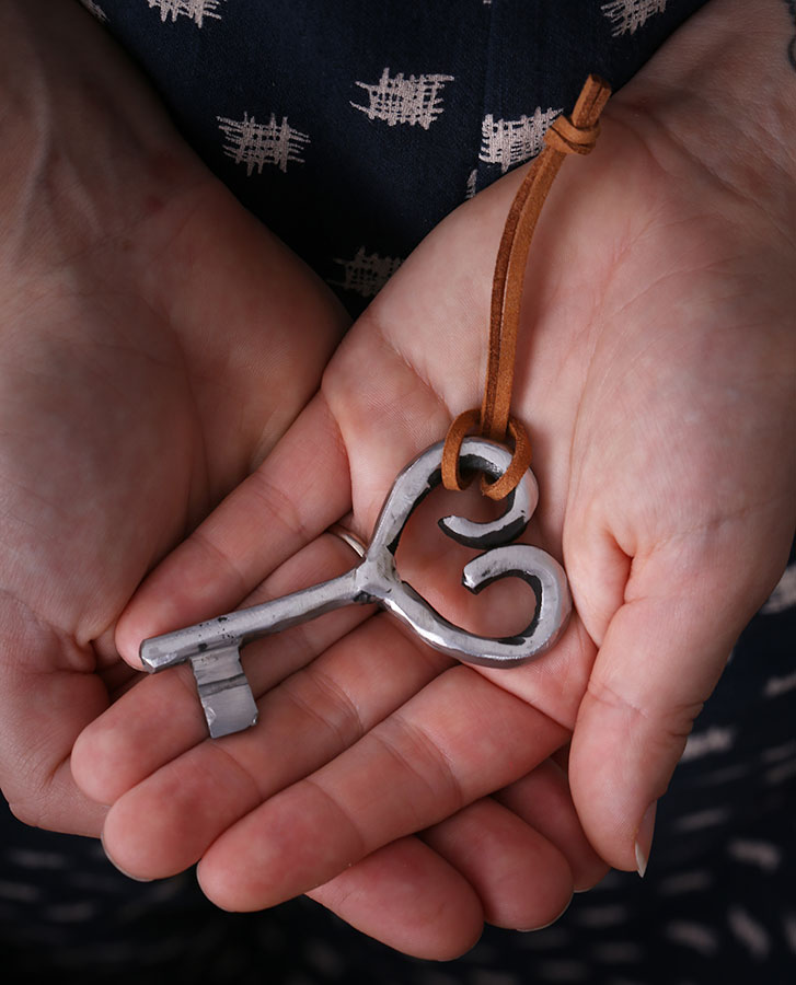 Loveheart Key handmade from iron / steel
