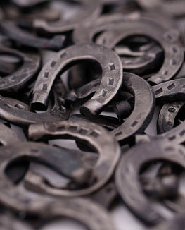 Miniature / fairy horseshoes, handmade using traditional blacksmithing.  Wedding, guest or corporate gifts.