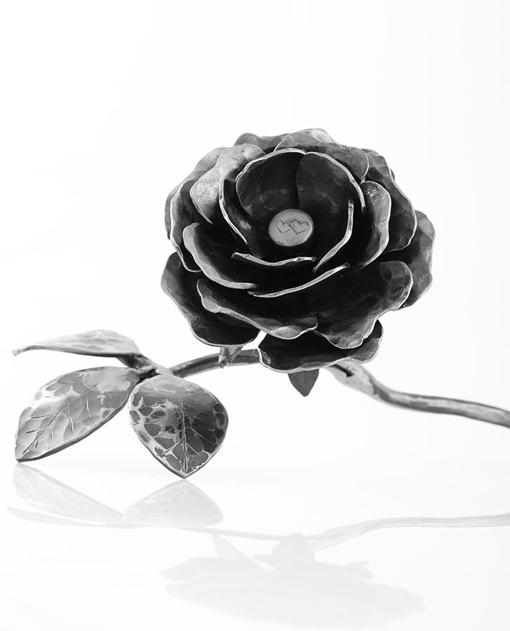 wrought iron rose - unique gift, handmade