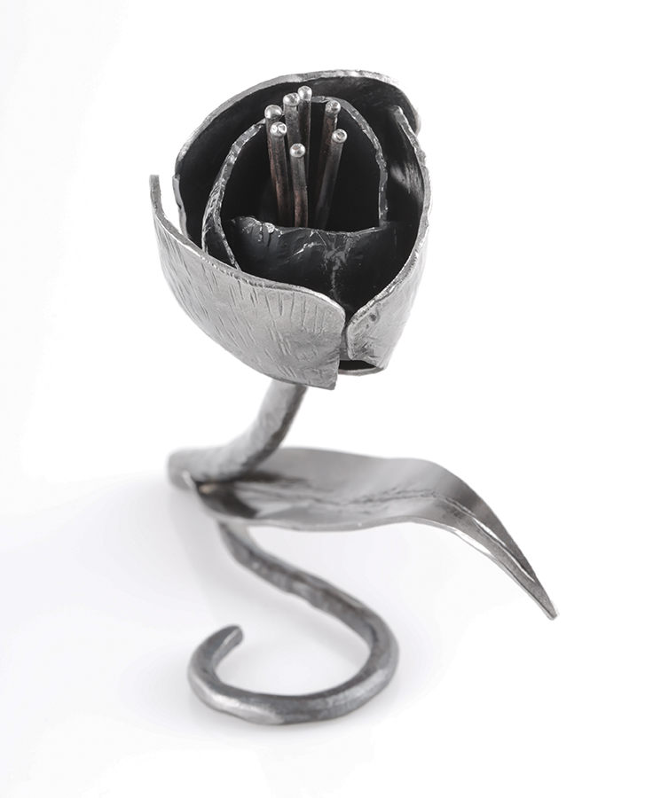 handmade wrought iron tulip - 6th anniversary gift